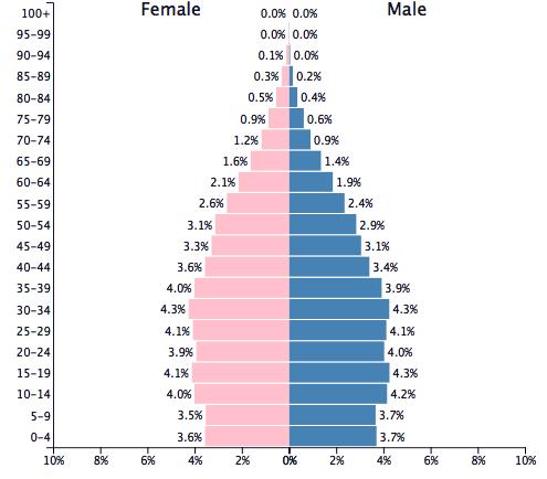Population of Brazil 2016 - PopulationPyramid.net